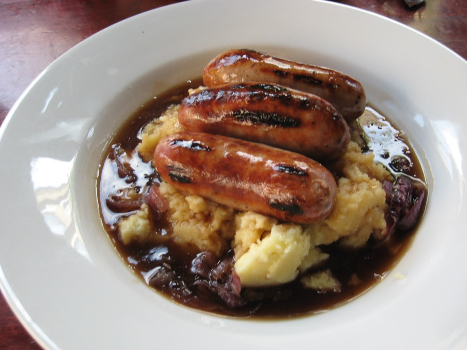 ... bangers and mash'. Can food be more comforting on a cold winters